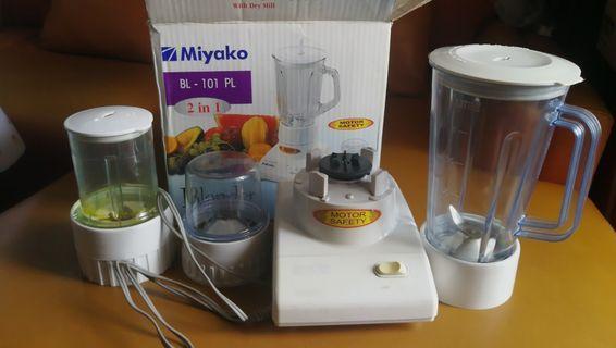 Miyako Blender BL-101PL (Plastik) - 1L - 2 in 1 Bonus Tabung Wet Mill