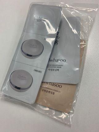 Sulwhasoo Perfecting Cushion brightening, cleansing foam, exfoliating mask
