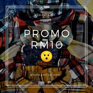 Flannel Shirt RM10 ONLY