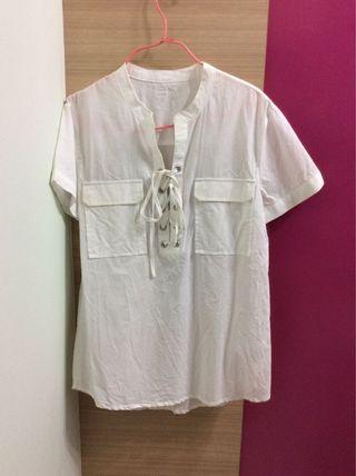 White Casual Blouse