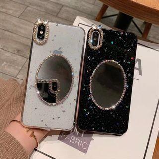 1157星星水鉆化妝鏡面IPHONE手機電話殼 IPHONE6 7 8 X PLUS XS XR XS MAX