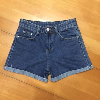 高腰短褲 牛仔褲