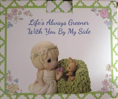 """Precious Moments Figurine """"Life's Always Greener With You By My Side"""""""