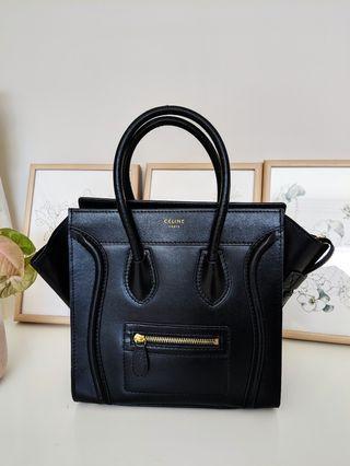 Celine Inspired Black Handbag