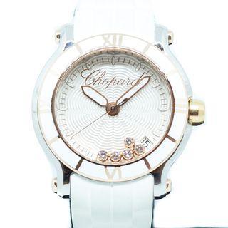 Preowned Chopard Happy Sports Diamonds in 18k Rose Gold/Steel Ref: 278551-6002