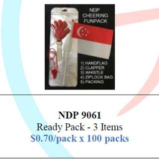 Singapore National Day Party Pack 3-items $70/100 packs