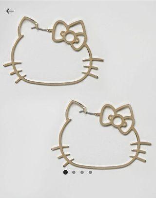 🚚 Hello Kitty Die Cut Hoop Earrings