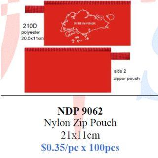 Singapore Map Zip Pouch $35/100pcs