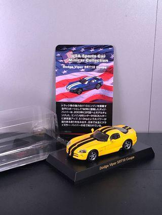 1/64 Kyosho Dodge Viper SRT10 coupe yellow