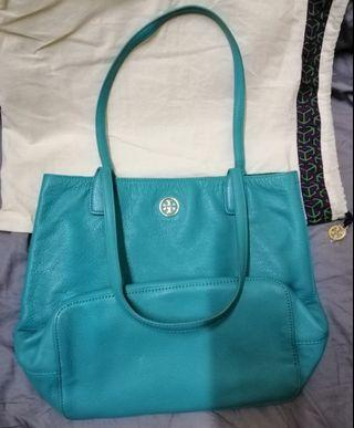 Tory Burch soft leather tote bag.