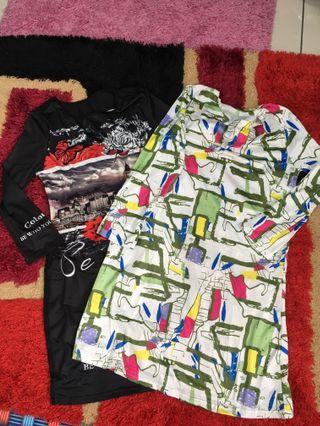 2 pcs tunic blouse size s