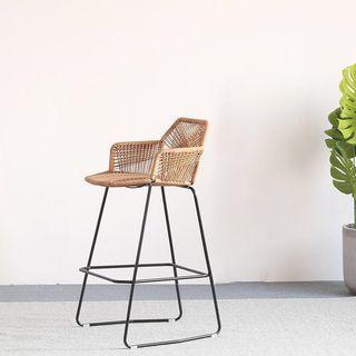 Nordic Rattan Bar/Counter Chair