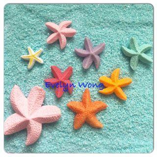 ☘ Terrarium Accessories / Miniature / scrapbooking, gardening deco, photo frame deco, home deco, figurine etc - Beach/ Seaside/Ocean/Starfishes/Cake Topper