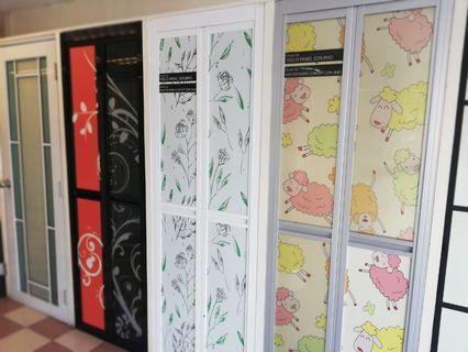 Bathroom doors and Shower Screen.