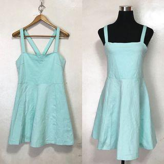 H&M Pastel Teal Sleeveless Summer Dress