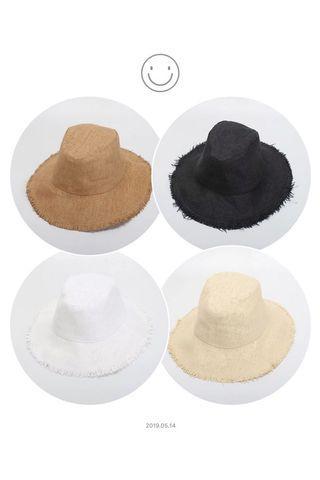 🚚 草編紳士漁夫帽素色草帽可折疊遮陽帽防曬帽沙灘帽海灘帽渡假帽🉑️折疊收納