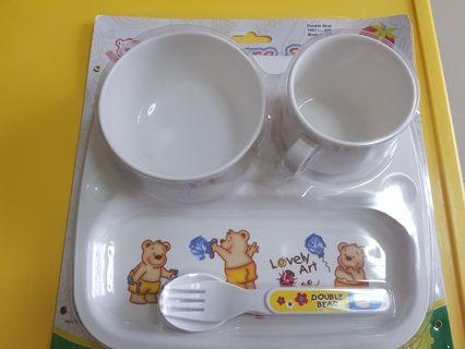🚚 大寶熊兒童餐具組