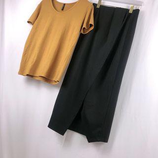 🌸春款上新🌸正韓 極簡風挺版片裙 預購