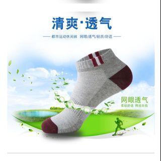 男士純棉清爽透氣運動短襪【立體後跟,柔軟,透氣,彈性好,不易脫落】