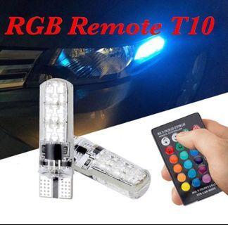 T10 remote RGB Led light