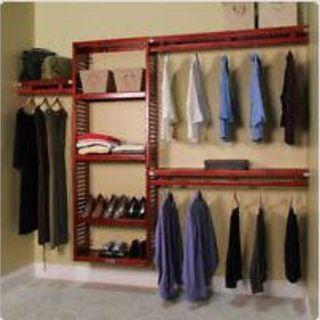 John Louis wardrobe and clothes shelves