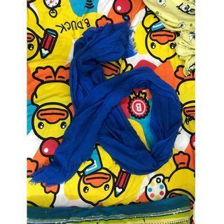 藍色頸巾 披肩