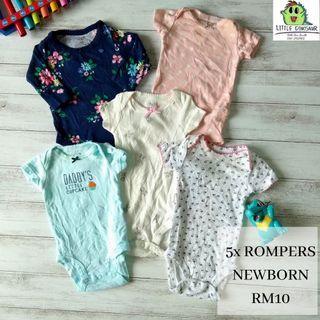 Baby Rompers Newborn Set (Buy 5sets,FREE POSTAGE)