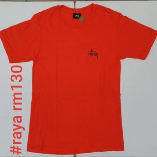 #RAYA130 STUSSY Basic Logo Orange Tee