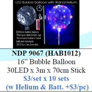 LED Bubble Balloon DIY $30/10pcs