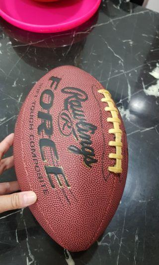 American Football and collectible toy helmet