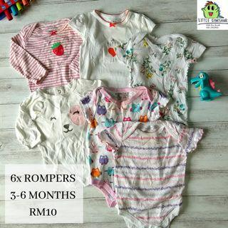 Baby Rompers Set 3-6MONTHS (Buy 5sets,FREE POSTAGE)
