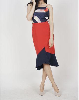 MDS Colour Block Mermaid Skirt