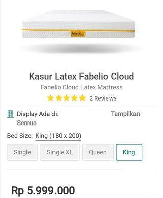 BED KING LATEX CLOUD FABELIO