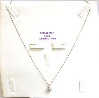 White Gold Chain With Dancing Dia Pendant