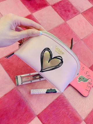 「門市購入」維多利亞秘密粉紅化妝包
