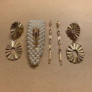 Pearl Gold Set Hair Pin