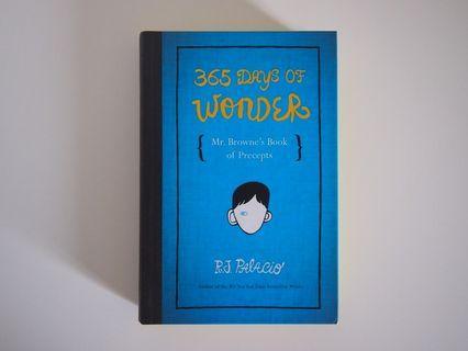 RJ Palacio 365 Days Of Wonder