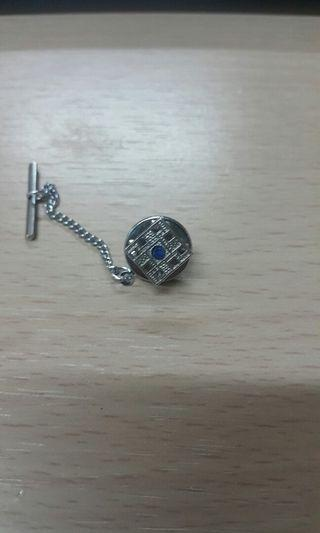 小晶石 九方 呔針/襟針(銀色)