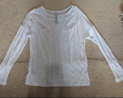 Lorna Jane white long sleeve top