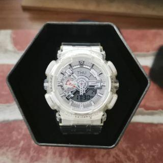 White Transparent G Shock WR20Bar for SALE