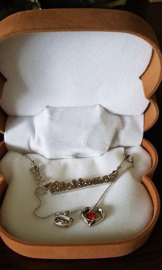 Rilakkuma Bracelet / Necklace (red gem)