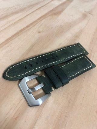 22mm watch strap military green color