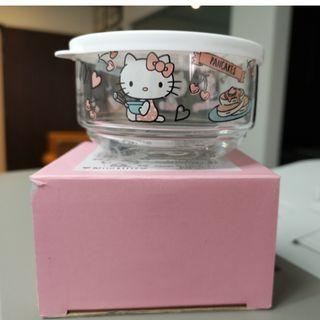 Sanrio Japan Hello Kitty Glass container with lid