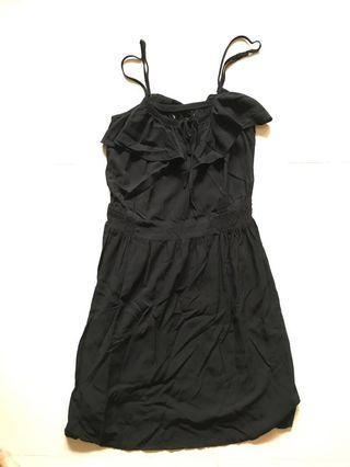 Little Black Dress sleeveless ruffle