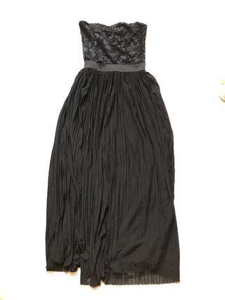 Black Tube Maxi Prom/ evening Dress