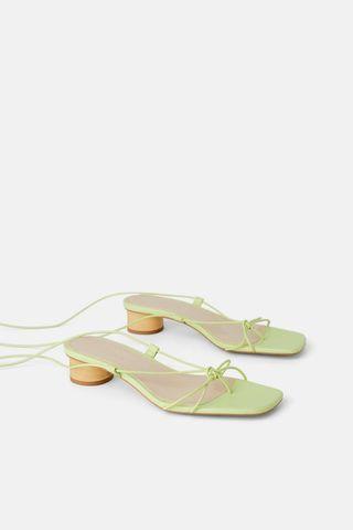 Zara strapy leather sandal