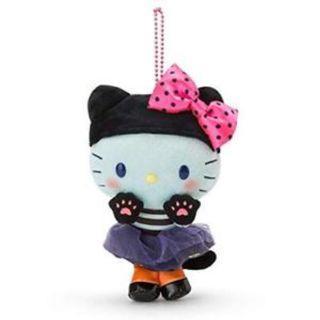 Sanrio Japan Hello Kitty & My Melody Mascot Holder Keychain Halloween 2018