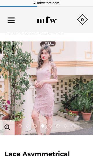 🚚 Pink lace dress