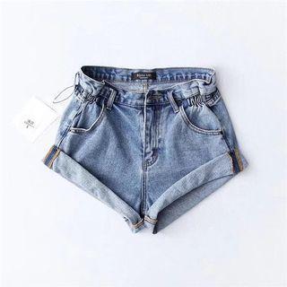 ShopJenith Cuff Hem Denim Shorts