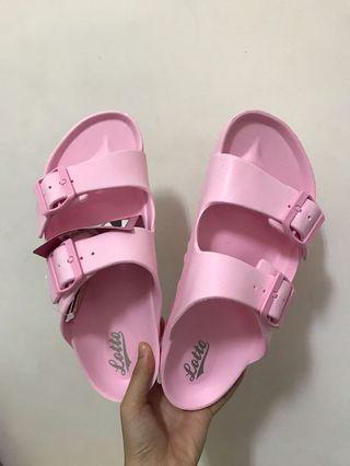 勃肯拖鞋 粉色